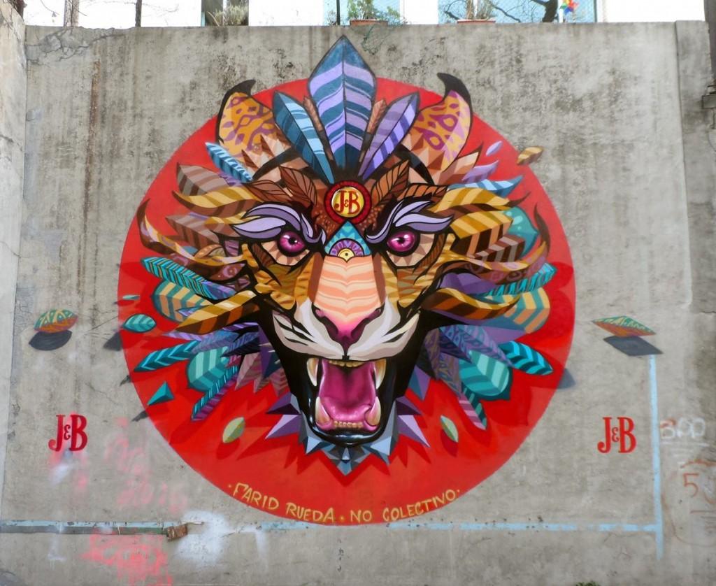 Scream. Mural realizado para la empresa J&B en la Ciudad de México. 2015. Foto: Cortesía de Farid Rueda