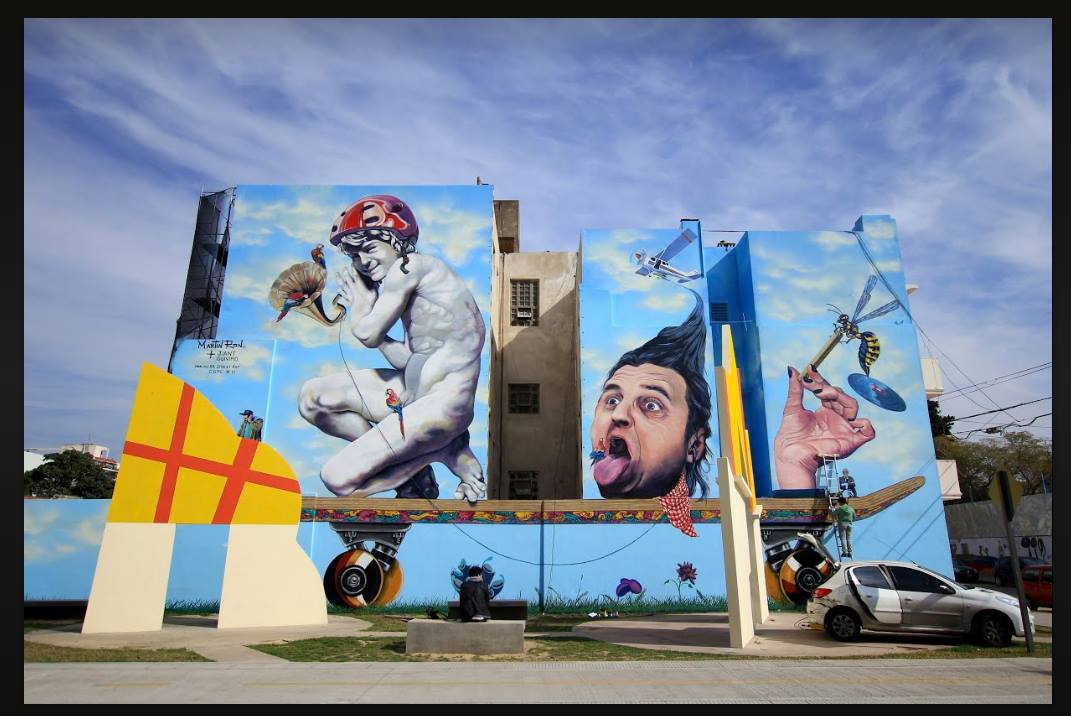 Mural de Martin Ron en Villa Urquiza, Buenos Aires. Foto: Cortesía de Martin Ron
