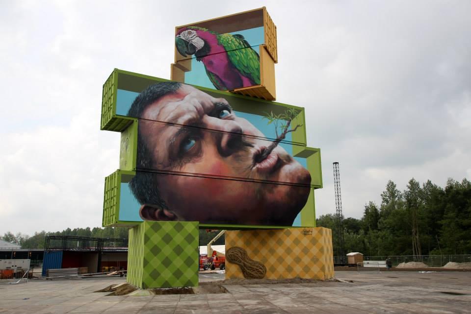 Obra de Martin Ron en Werchter, Bélgica. 2014. Foto: Cortesía de Martin Ron