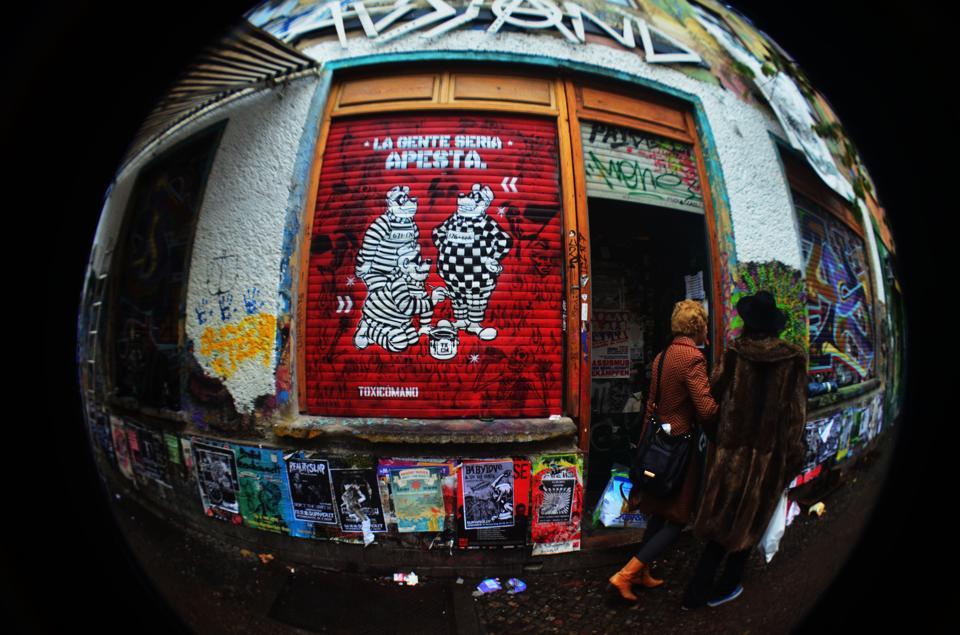 Intervención de Toxicómano en Berlín. Foto: Cortesía del autor