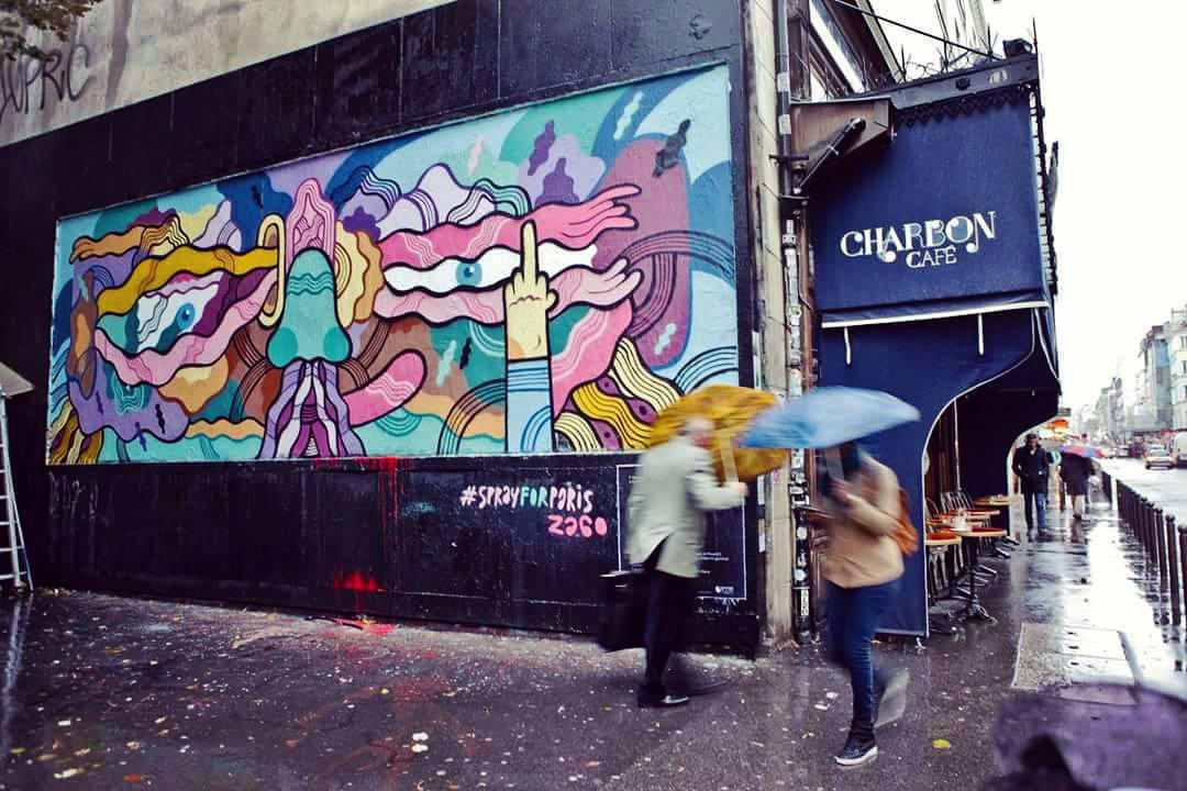 Fuck Terror. Mural de Pablito Zago en el Distrito 11 de París, a pocos metros de donde ocurrieron los atentados de noviembre pasado.
