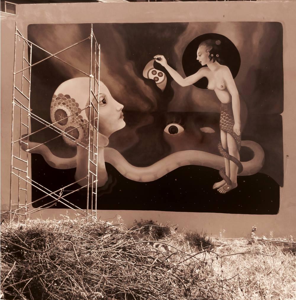El Retorno. Mural de Fusca.