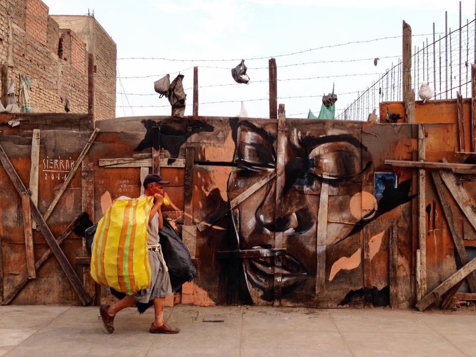 Esperanza Reciclada. Mural de Sierrah.