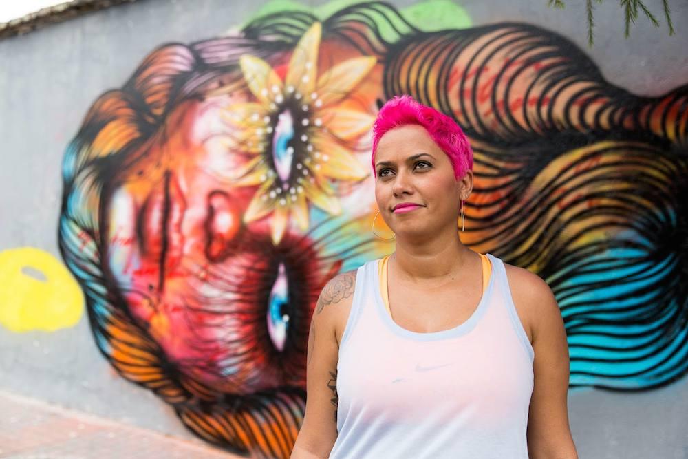 La artista brasileña Anarkia, una de las protagonistas del documental de Henry.