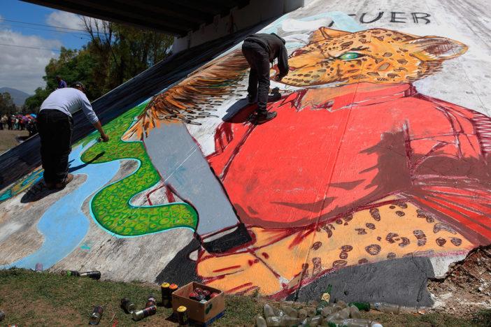 Uno de los mensajes de resistencia pintados en Nochixtlán. Foto: Octavio Gómez.