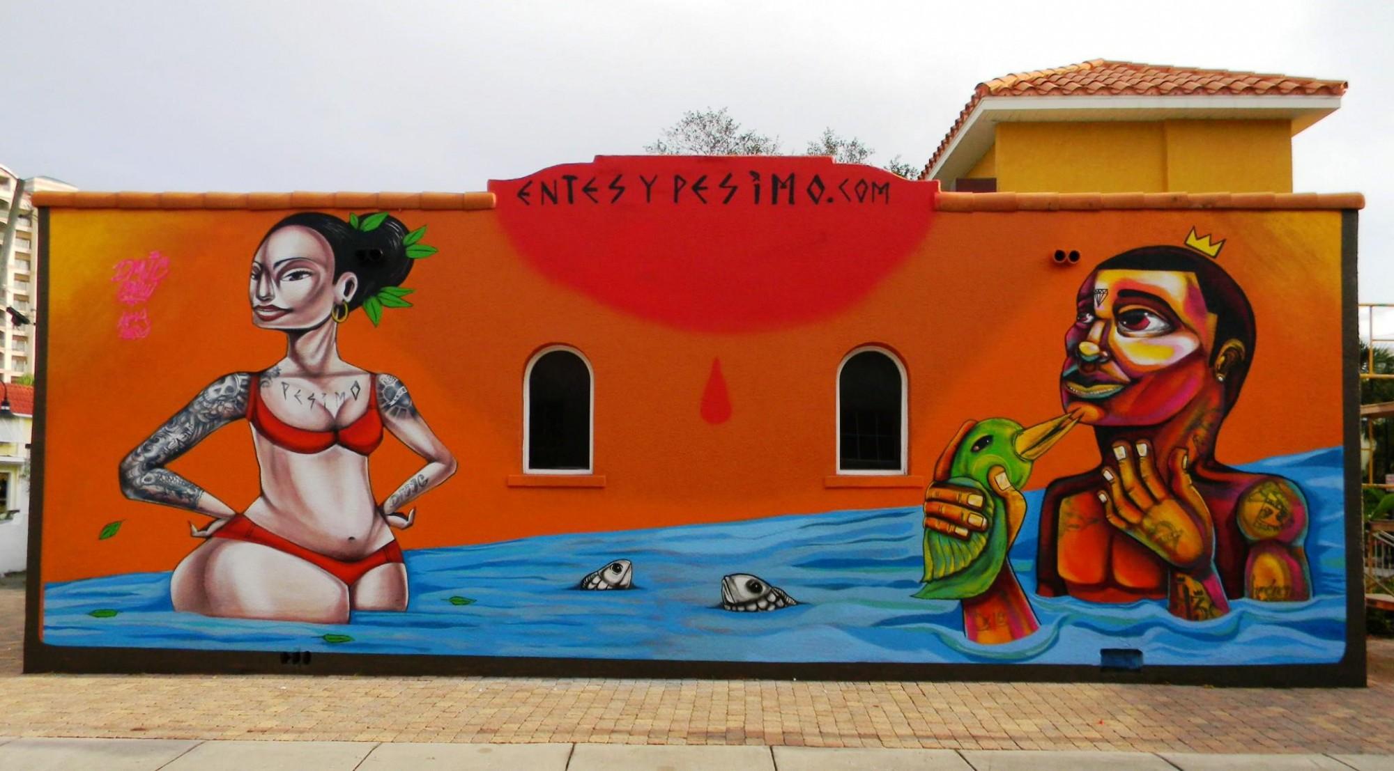 Mural de Entes y Pésimo en Florida.