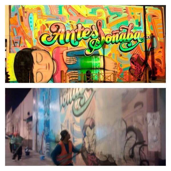 Mural eliminado de Elliot Tupac en Lima.