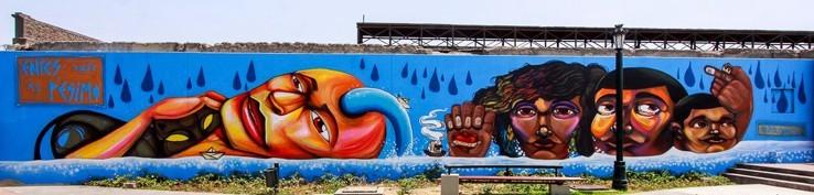 Mural de Entes y Pésimo para Latido Americano