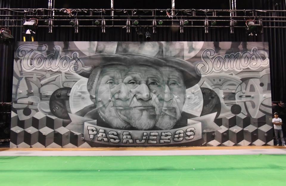 Mural de Decertor y Elliot Tupac para Latido América.