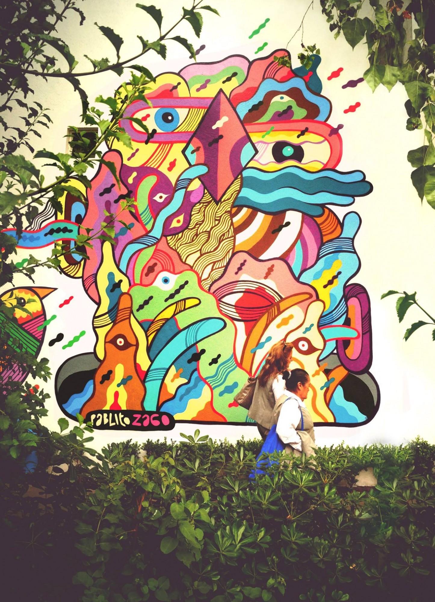 The Underground Spirit. Mural de Pablito Zago en la Ciudad de México.