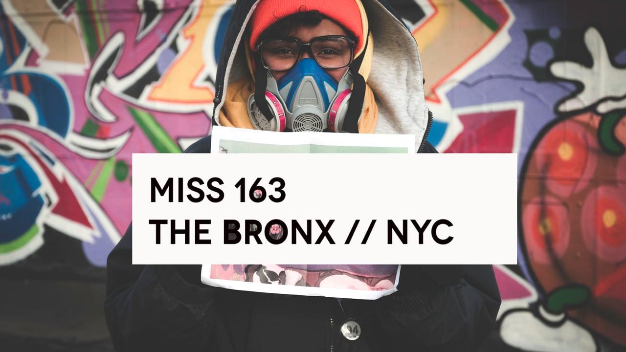 La artista neoyorquina Miss 163, otra de las protagonistas del documental Heroines.